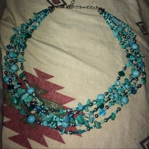Gorgeous chunky turquoise necklace!